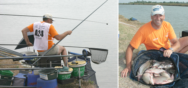 Left: Jo in action during his day one winning spree. Right: Jo's day two 10.77kg haul from D2