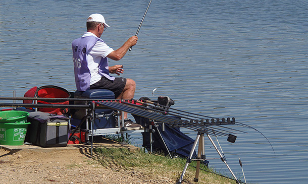Steve Gardener fishing to the plan until told otherwise.