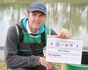 It wasn't a bad debut for Callum Dicks, he finished top angler in the team!