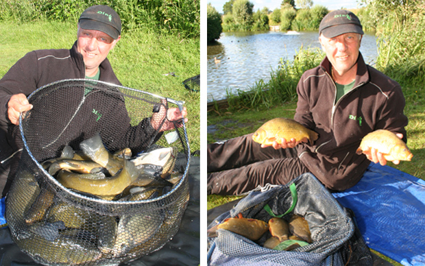 Not a bad days haul, tench and bream along with crucians and roach! The complex is famed for its crucian fishing, but in Richardsons lake they only go up to just under 3lb! This net averaged out at just over 1lb each.